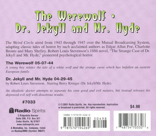 Radio Shows: Werewolf/Dr. Jekyll and Mr. Hyde