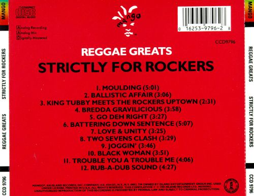 Reggae Greats: Strictly for Rockers