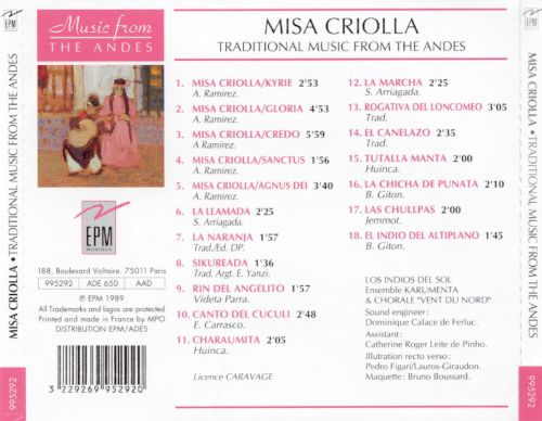 Misa Criolla: Traditional Music from the Andes