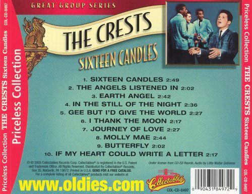 Sixteen Candles The Crests Songs Reviews Credits