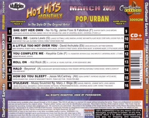 Hot Hits Monthly: Pop Urban March 2009