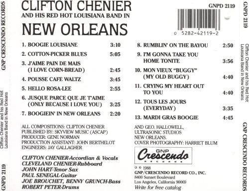 Clifton Chenier & His Red Hot Louisiana Band in New Orleans