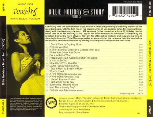 The Billie Holiday Story, Vol. 5: Music for Torching