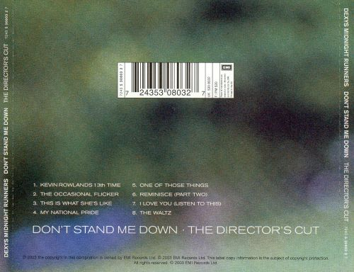 Don't Stand Me Down [The Director's Cut]