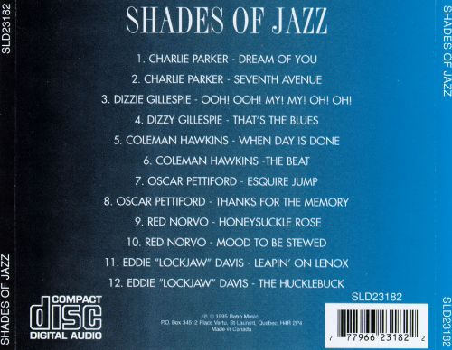 Shades of Jazz, Vol. 1 [Nagel-Heyer]