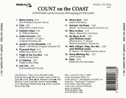 Count on the Coast, Vol. 1