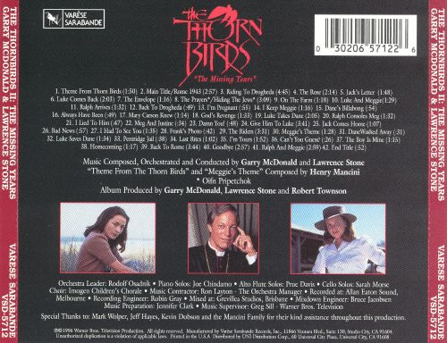 Thorn Birds: The Missing Years [Original Television Soundtrack]