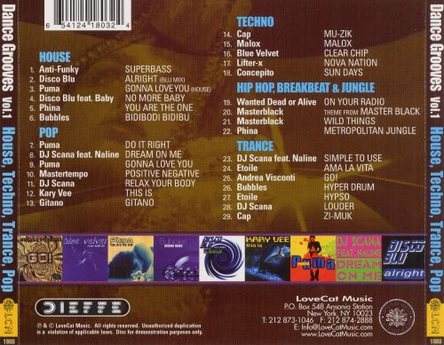 Dance Grooves No. 1: House, Techno, Trance, Pop