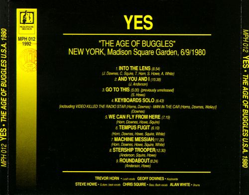 The Age of Buggles U.S.A. 1980