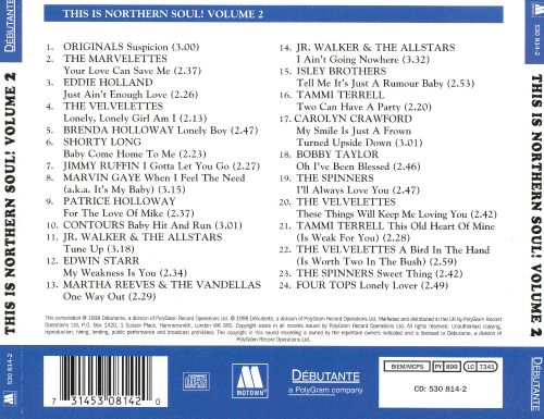 This Is Northern Soul! A Collection of 24 Tamla Motown Northern Soul, Vol. 2