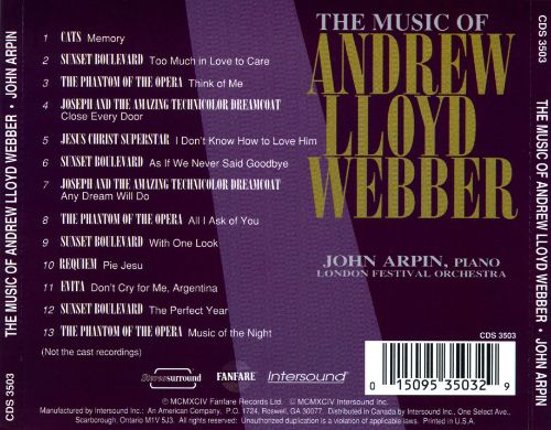 The Music of Andrew Lloyd Webber [Intersound]