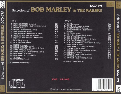 Selection of Bob Marley & the Wailers