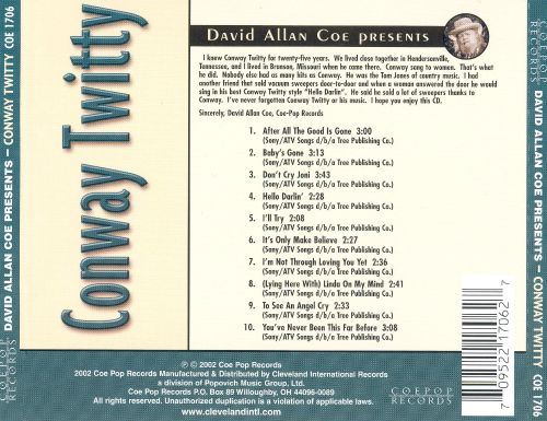 David Allan Coe Presents Conway Twitty