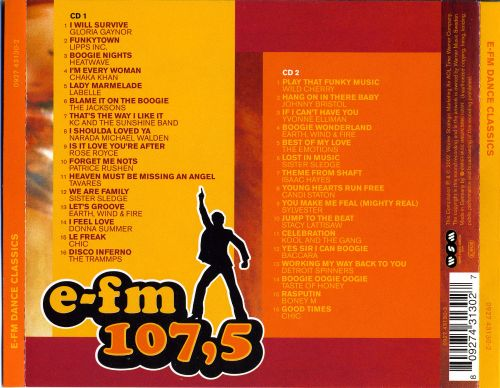 E fm 107 5 dance classic various artists songs for Classic dance tracks