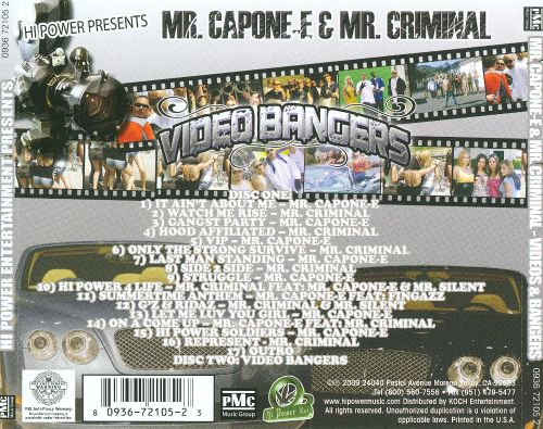 Mr. Capone-E and Mr. Criminal Video and Bangers, Vol. 2