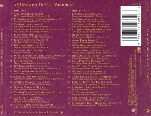 36 Greatest Gospel Memories: A Loving Tribute to Albert E. Brumley