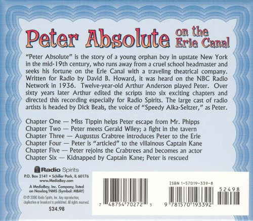Radio Shows: Peter Absolute on Erie Canal