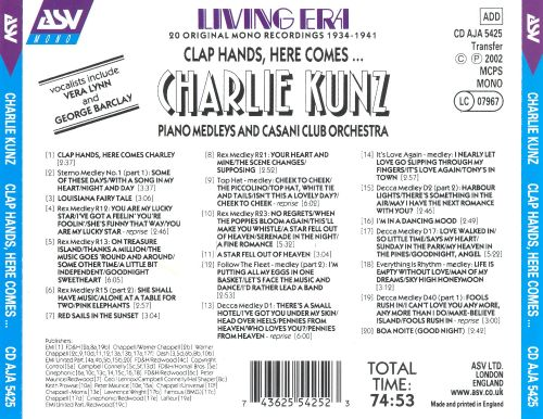 Clap Hands: Here Comes Charlie Kunz [Pearl Flapper]