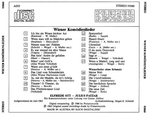 Viennese Comedy Songs