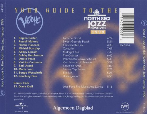 Your Guide to the North Sea Jazz Festival 1999