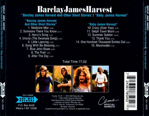 Barclay James Harvest and Other Short Stories/Baby James Harvest