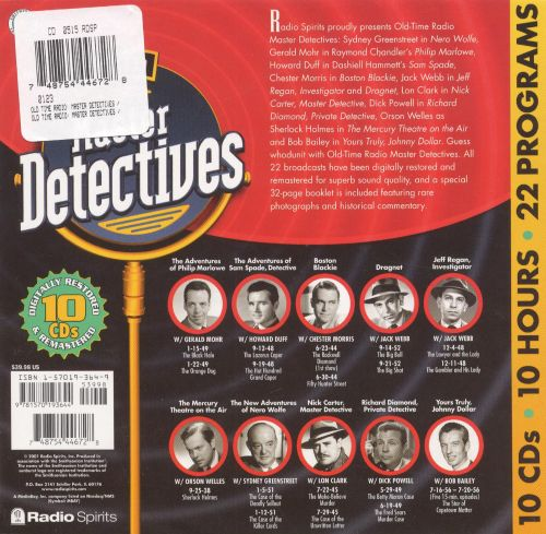 Old Time Radio: Master Detectives