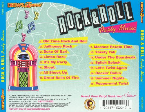 Drew 39 s famous rock roll party music 2002 drew 39 s for Great house music