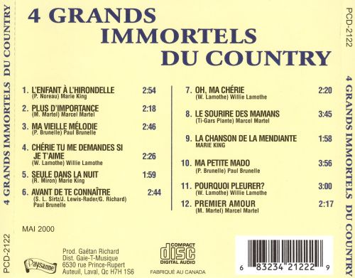 4 Grands Immortels du Country