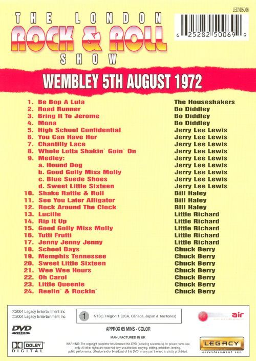 The London Rock & Roll Show: Wembley 5th August 1972