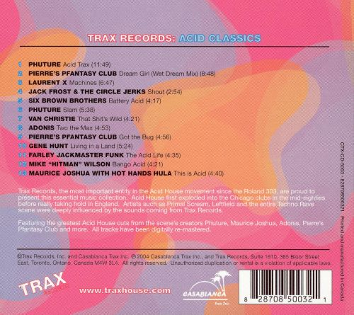Trax Records: Acid Classics
