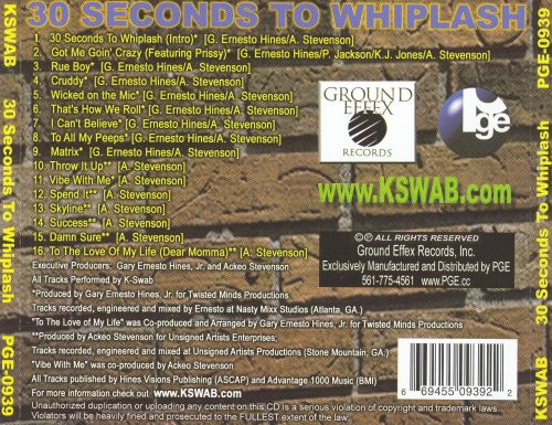 30 Seconds to Whiplash