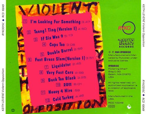 Keith Levene's Violent Opposition