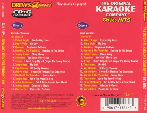 Drew's Famous Karaoke Greatest Hits Of The 60's
