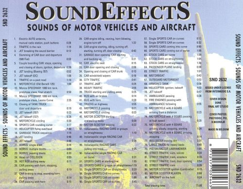 Sound Effects: Sounds of Motor Vehicles and Aircraft