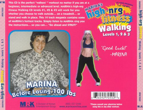 Marina's High-NRG Fitness: Walking Levels 1, 2, & 3