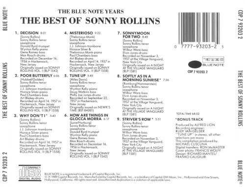 The Best of Sonny Rollins [Blue Note]