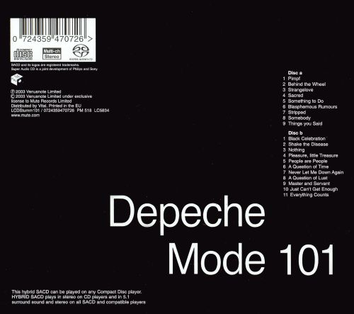 101 live depeche mode songs reviews credits allmusic. Black Bedroom Furniture Sets. Home Design Ideas
