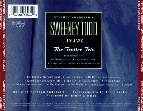 Stephen Sondheim's Sweeney Todd in Jazz