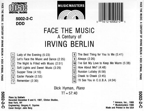 Face the Music: A Century of Irving Berlin
