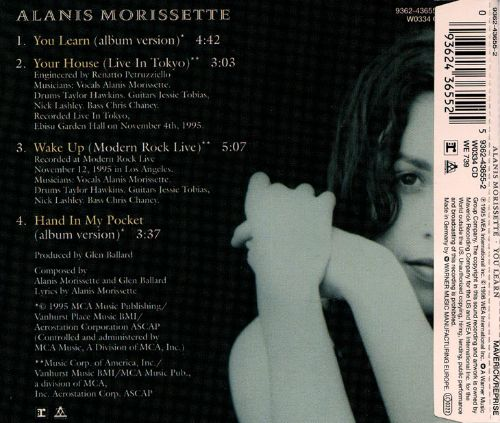 Alanis Morissette - You Learn / You Oughta Know - Amazon ...