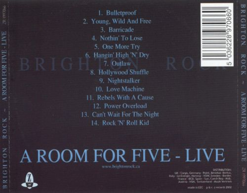 Room for Five Live