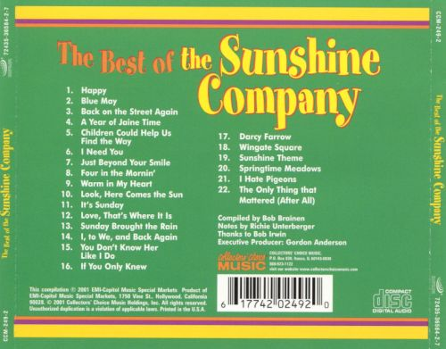 The Best of the Sunshine Company