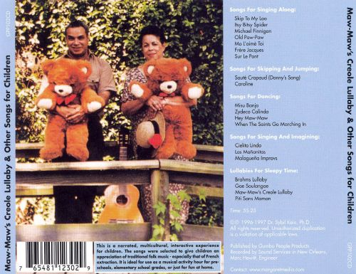 Maw Maw's-Creole Lullaby & Other Songs For Children