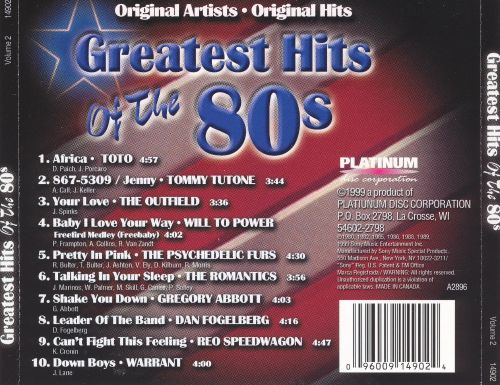 Greatest Hits of the '80s, Vol. 2