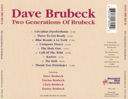 Two Generations of Brubeck