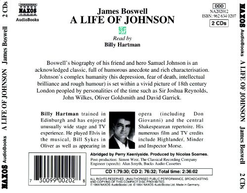 James Boswell: A Life of Johnson