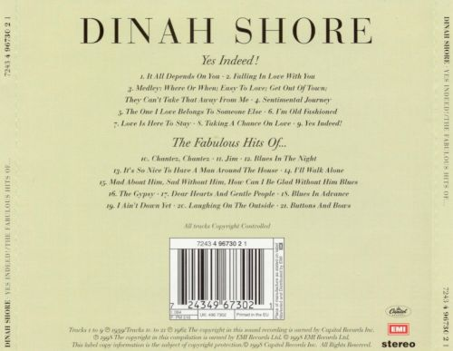 Dinah, Yes Indeed!/The Fabulous Hits of Dinah Shore