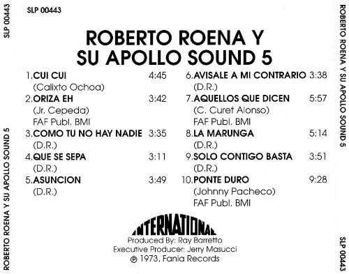 Roberto Roena y su Apollo Sound, Vol. 5