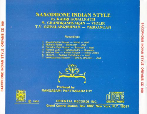 Saxophone Indian Style