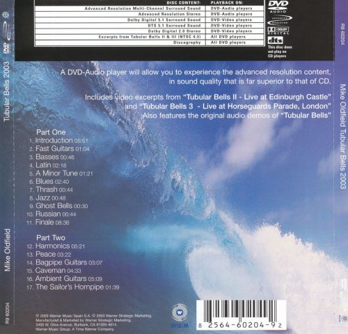 Tubular Bells 2003 - Mike Oldfield | Songs, Reviews, Credits ...